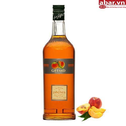 Siro Giffard Đào (Giffard Peach Syrup) - Chai 1L