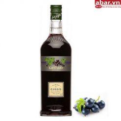Siro Giffard Nho Đen (Giffard Black Currant Syrup) - Chai 1L