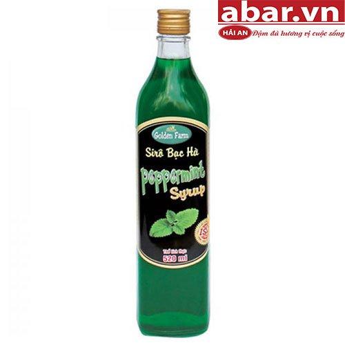 Siro Golden Farm Bạc Hà (Pepermint Syrup) - Chai 520ml