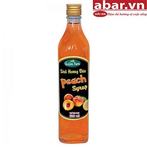 Siro Golden Farm Đào (Golden Farm Peach Syrup) - Chai 520ml
