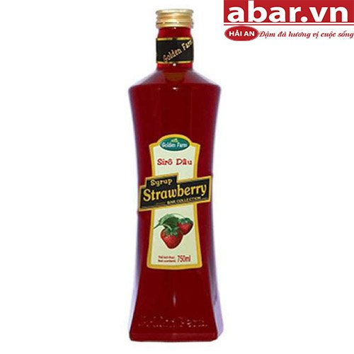 Siro Golden Farm Dâu (Strawberry Syrup) - Chai 750ml