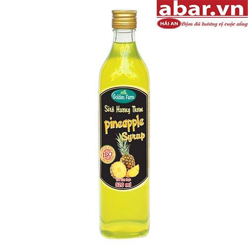 Siro Golden Farm Dứa (Pineapple Syrup) - Chai 520ml