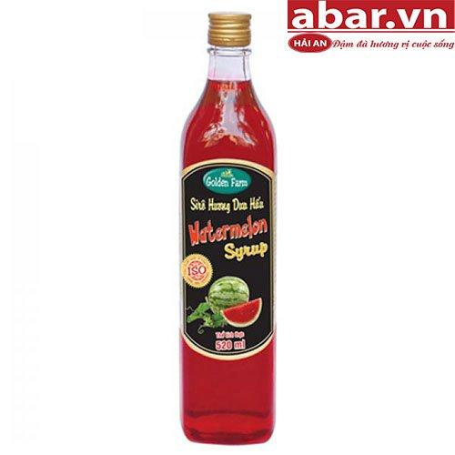 Siro Golden Farm Dưa Hấu (Watermelon Syrup) - Chai 520ml