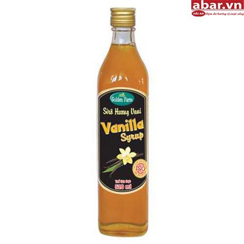 Siro Golden Farm Vani (Golden Farm Vanilla Syrup) - Chai 520ml