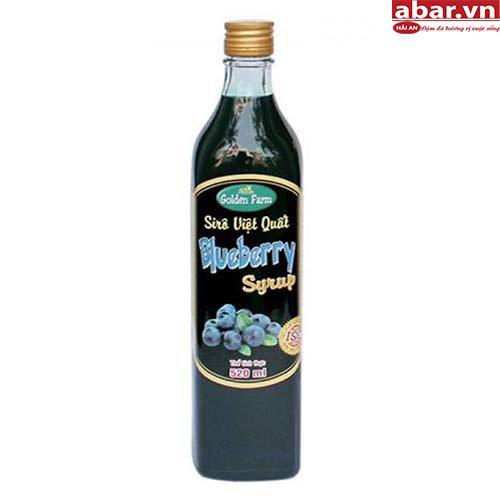Siro Golden Farm Việt Quất (Blueberry Syrup) - Chai 520ml