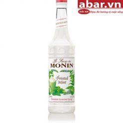 Siro Monin Bạc Hà Trắng (Frosted Mint) - Chai 700ml