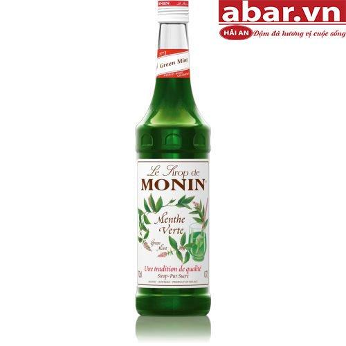 Siro Monin Bạc Hà Xanh (Green Mint Syrup) - Chai 700ml