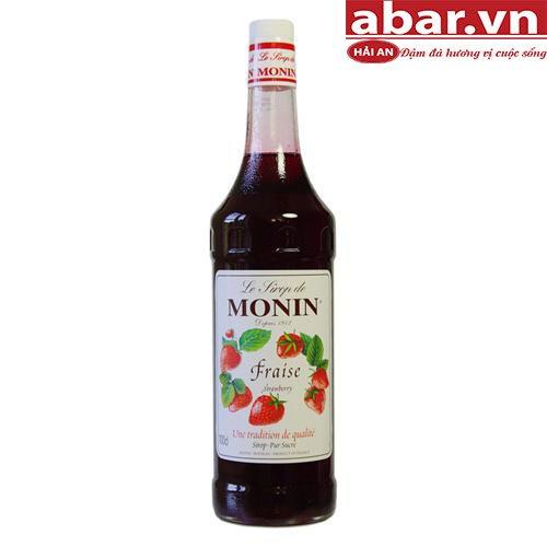 Siro Monin Dâu Tây (Strawberry Syrup) - Chai 1L