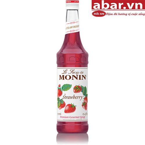 Siro Monin Dâu Tây (Strawberry Syrup) - Chai 700ml