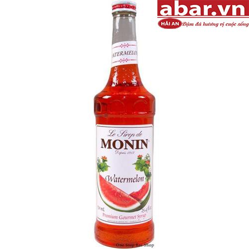 Siro Monin Dưa Hấu (Watermelon Syrup) - Chai 700ml