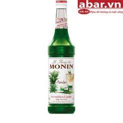 Siro Monin Lá Dứa (Monin Pandan Syrup) - Chai 700ml