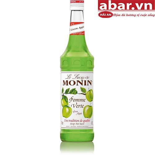 Siro Monin Táo Xanh (Green Apple Syrup) - Chai 700ml