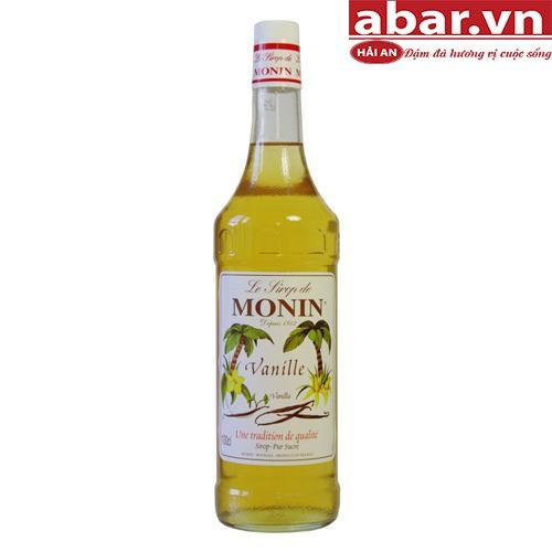 Siro Monin Vanilla Pháp (French Vanilla Syrup) - Chai 1L