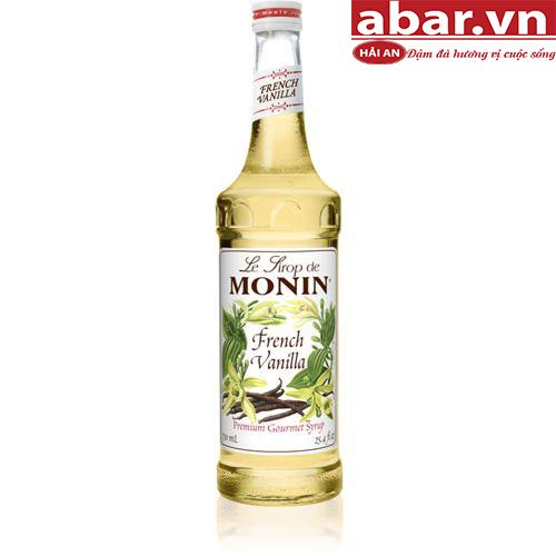 Siro Monin Vani Pháp (French Vanilla Syrup) - Chai 700ml