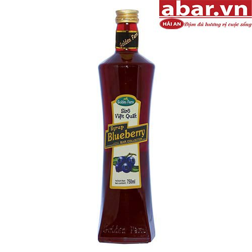 Siro Golden Farm Việt Quất (Blueberry Syrup) - Chai 750ml
