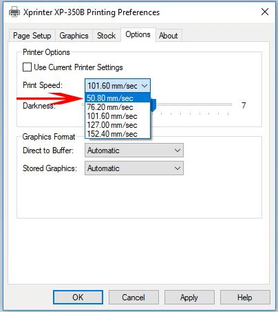 Cài đặt máy in XPrinter 350B 3