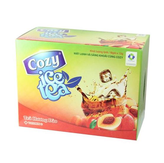 trà ice cozy hương đào