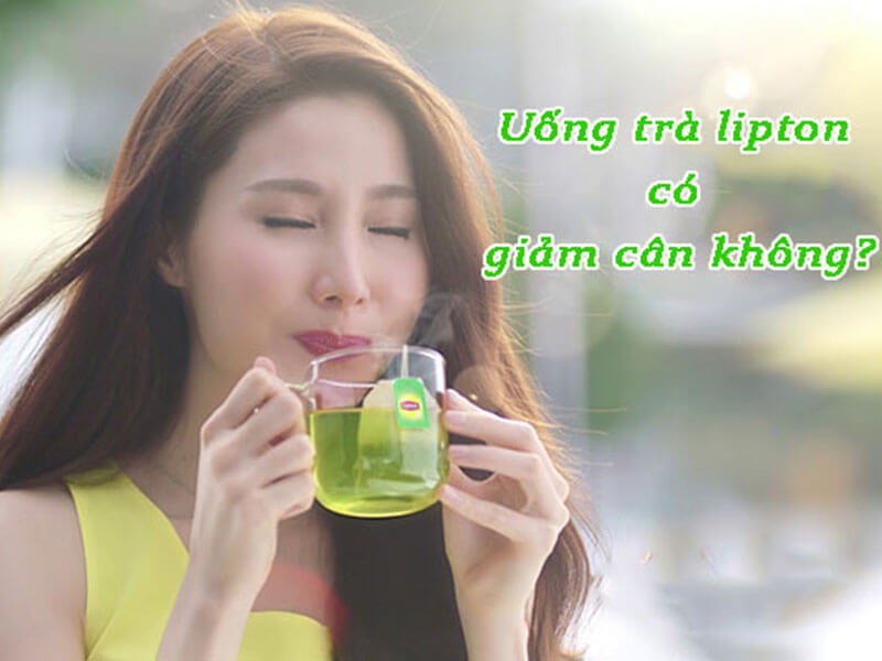 Uống trà Lipton giảm cân