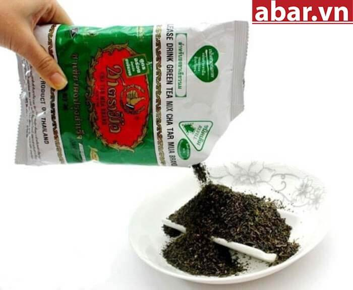 trà thái xanh pha trà sữa