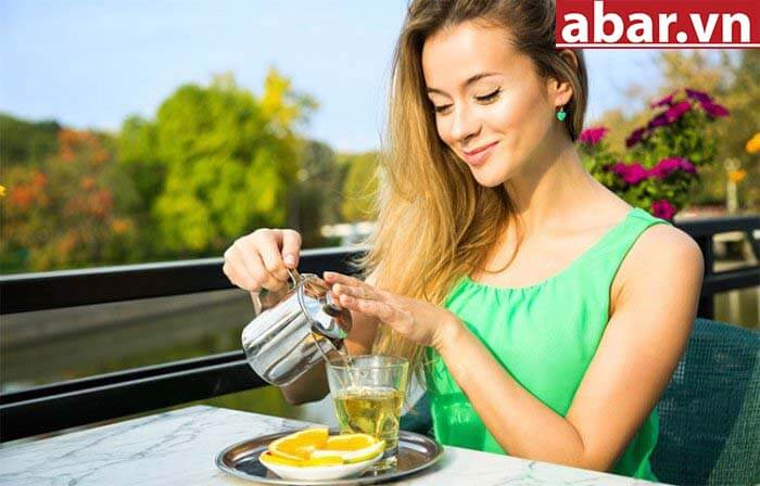 uống trà cải thiện đường ruột