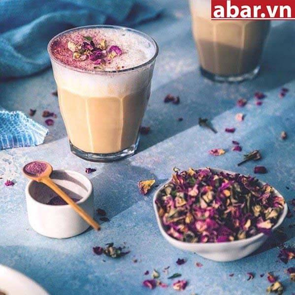trà sữa hoa hồng 1