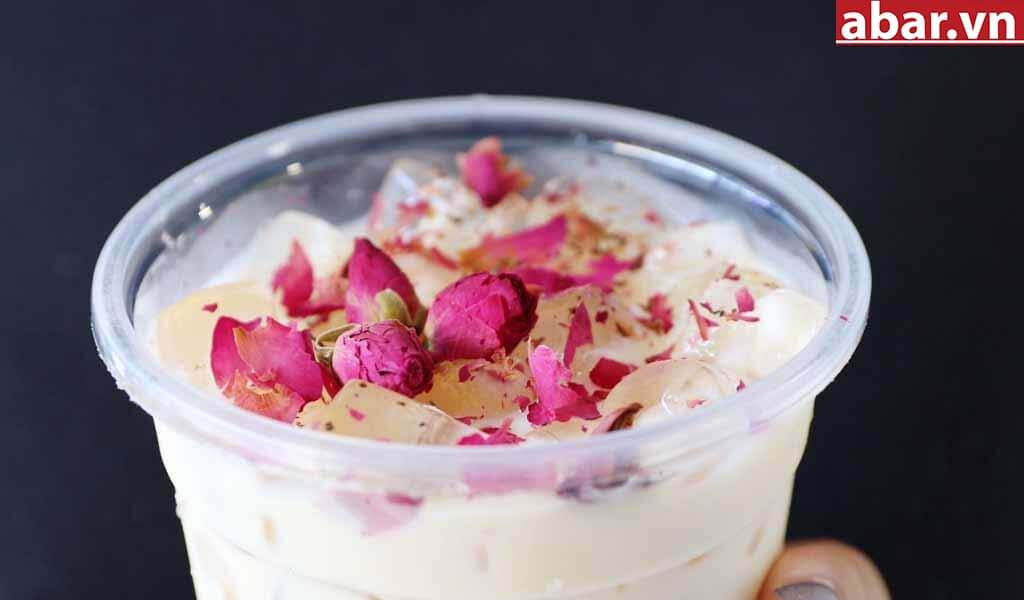 trà sữa hoa hồng